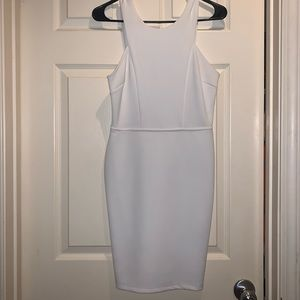 White back cut out dress